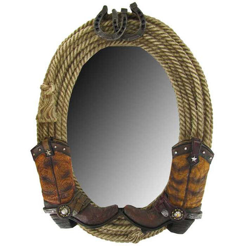 "17"" Double Boot & Rope Mirror"