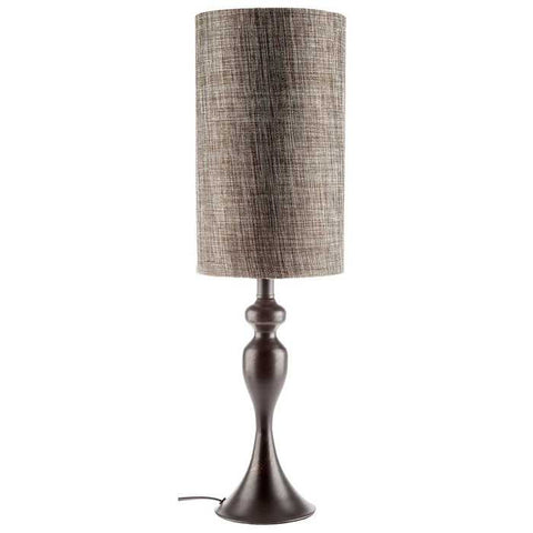 "24"" Metal Lamp with Round Black Shade"