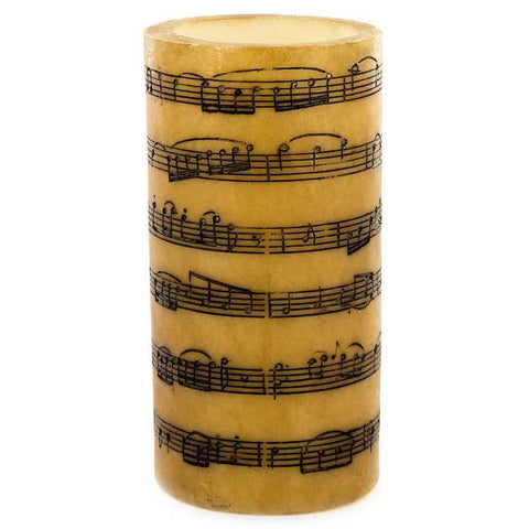 "3"" x 6"" Music Notes LED Pillar Candle"