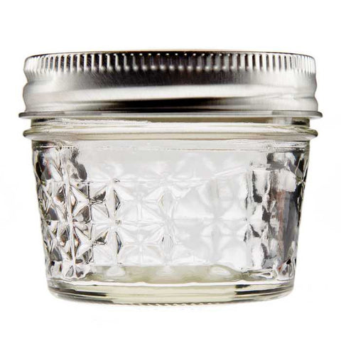 4 ounces Ball Quilted Crystal Jelly Jar