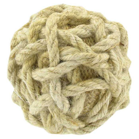 "3 1/2"" Natural Nautical Rope Ball"