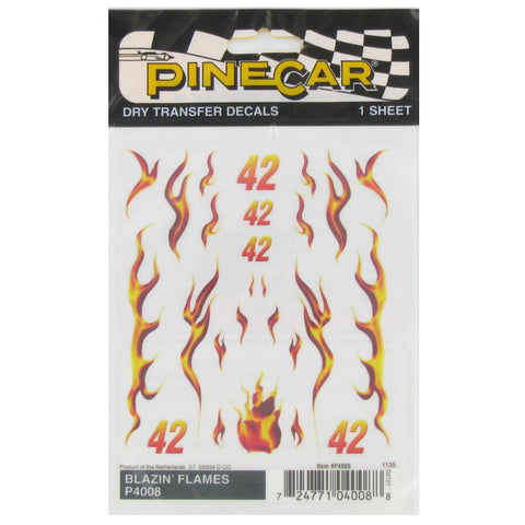 Blazin Flames Dry Transfer Decals