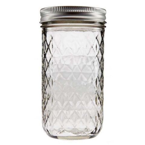 12 ounces Ball Quilted Crystal Jelly Jar