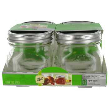 16 ounces Ball Collection Elite Wide Mouth Jars