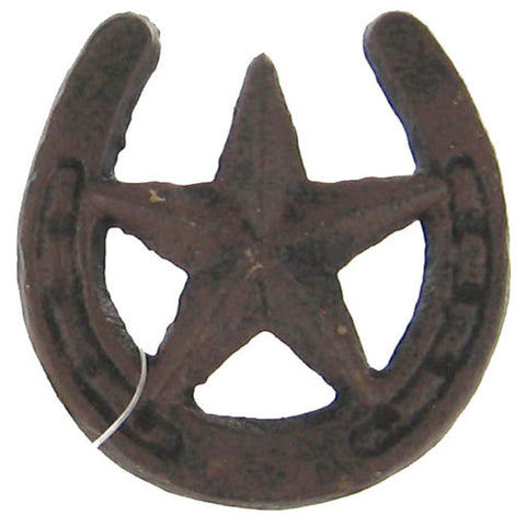 Cast Iron Horseshoe Drawer Pull with Star