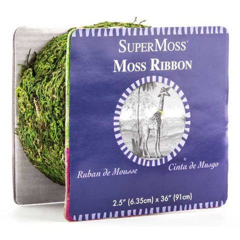 "2 1/2"" Fresh Green Moss Ribbon"
