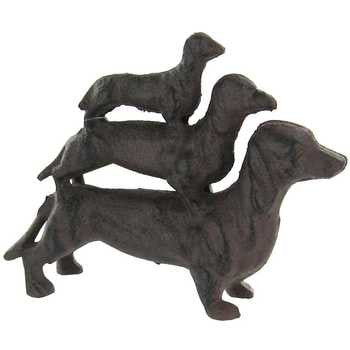 Three Metal Stacking Dachshund Dogs