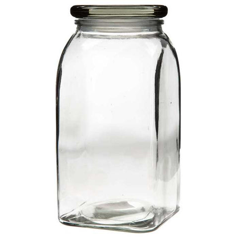 1400mL Clear Glass Jar with Lid & Gasket