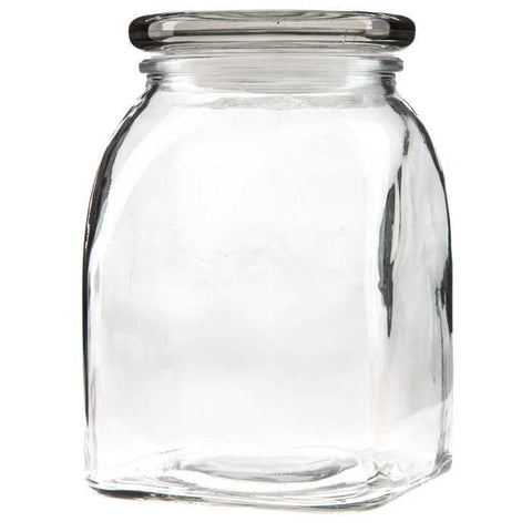 1000mL Clear Glass Jar with Lid & Gasket