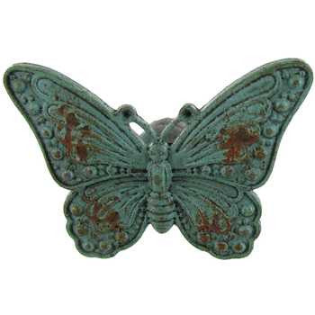 Distressed Blue Pewter Butterfly Knob