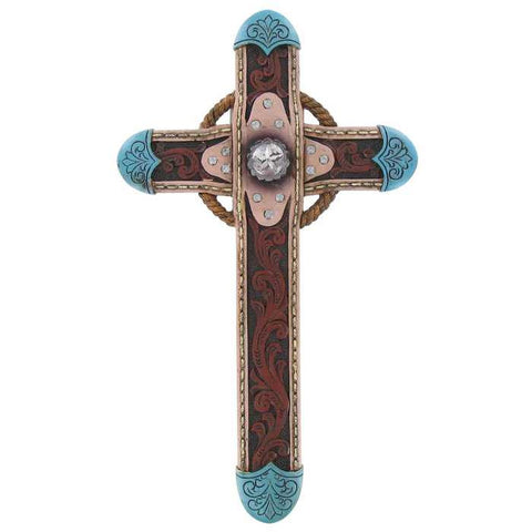 "10"" Turquoise Western Cross"