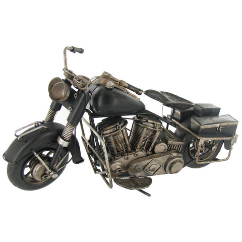 Large Black Metal Motorcycle