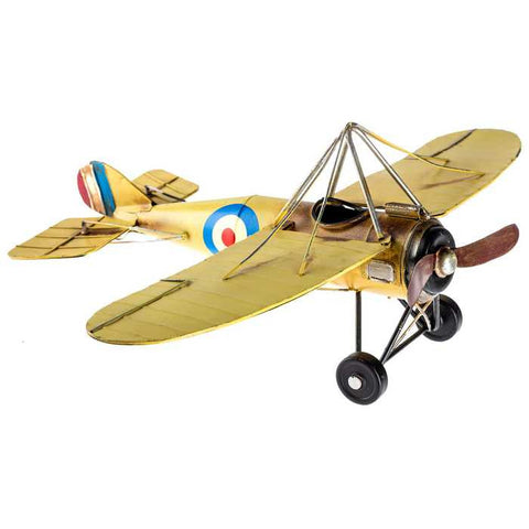Yellow Morane Metal Airplane