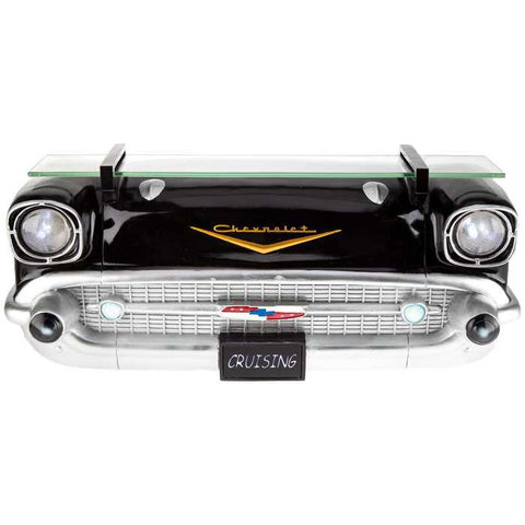 Black 1957 Chevrolet Car Shelf with LED Lights