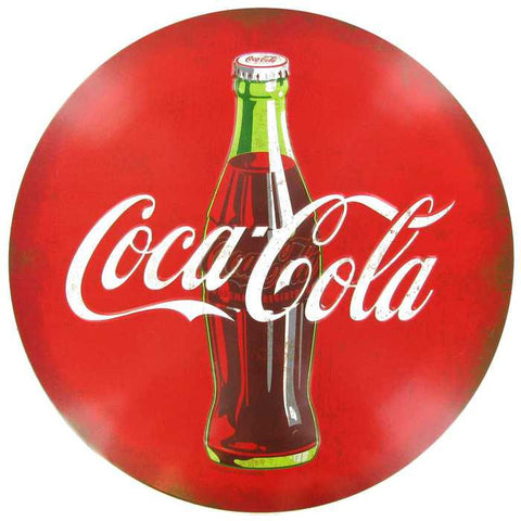 "11 1/2"" Coca-Cola Embossed Tin Sign"