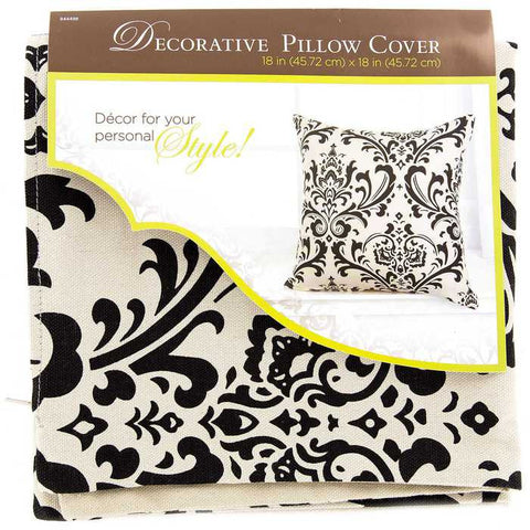"18"" x 18"" Damask Print Pillow Cover"