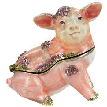 Pink Pig Jewel Box