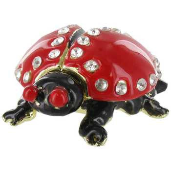 Red & Black Ladybug Jewel Box