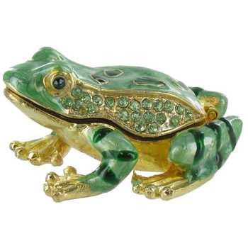 Green Frog Jewel Box