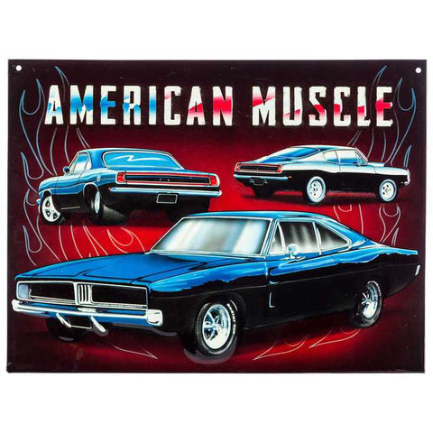 American Muscle Embossed Tin Sign
