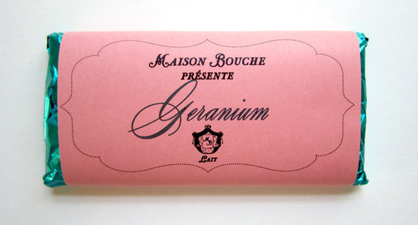 Geranium Milk Chocolate Bar
