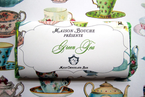 "Green Tea ""Tea Party"" Chocolate Bar"