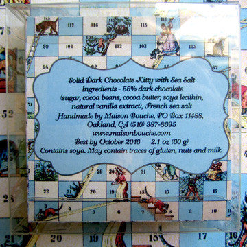 "Fleur de Sel Kitty with ""Cats and Ladders"" Game Box"