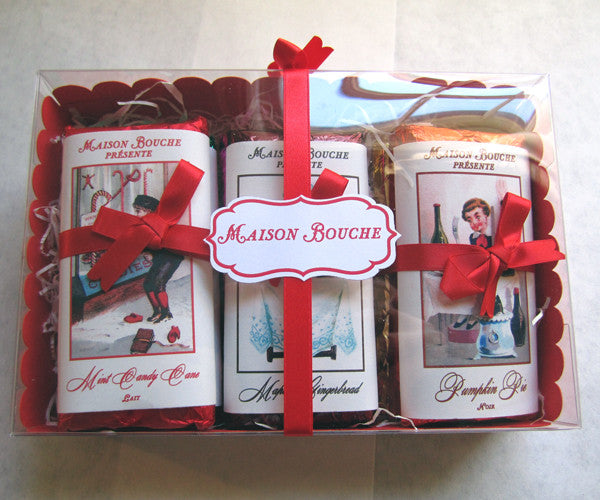 Holiday Vintage Chocolate Bar Box Set of 9