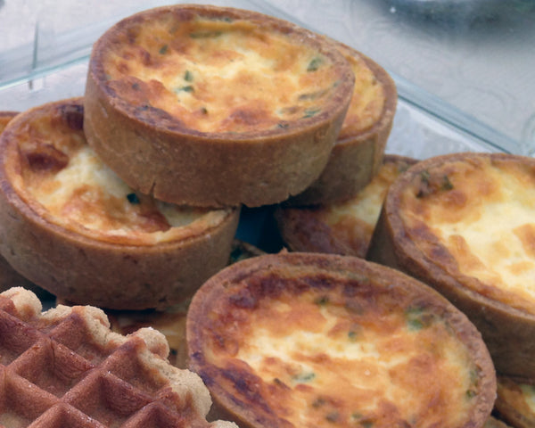 Gruyere Chive Quiches