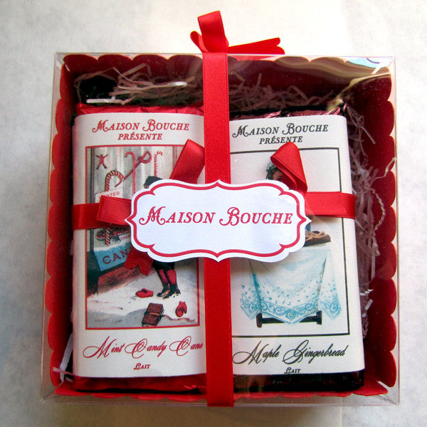Holiday Vintage Chocolate Four Bar Gift Set
