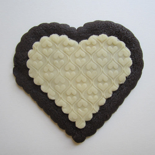 """Two Hearts"" Marzipan Cookie"