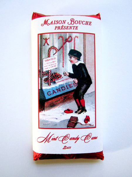 Mint Candy Cane Vintage Chocolate Bar