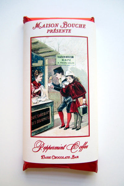 Peppermint Coffee Vintage Label Bar