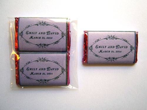 Wedding Favor Customized Mini Chocolate Bars