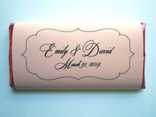 Wedding Customized Chocolate Bars