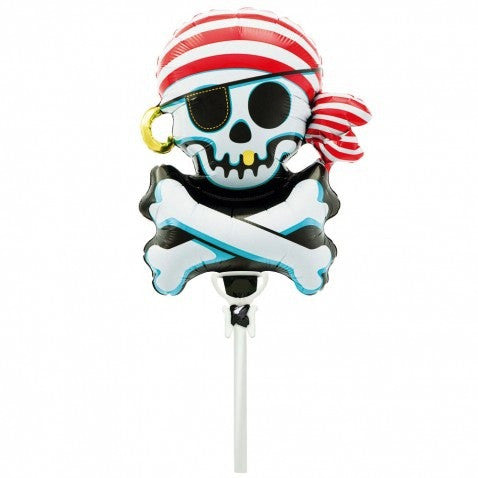 Jolly Roger Balloon On A Stick