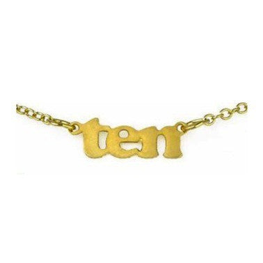 Birthday Necklace - Ten