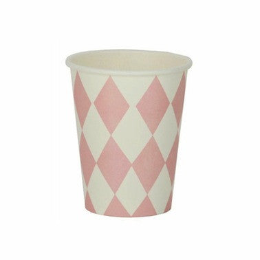 Pink Diamond Paper Cups