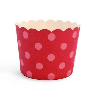 Berry Pink Spots Baking Cups