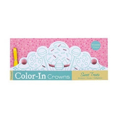 Color-In Crowns - Sweet Treats