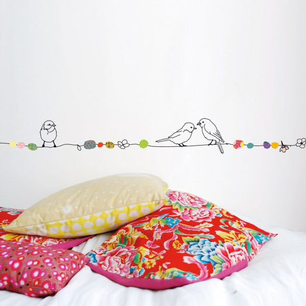 Wall Stickers - Birds & Pearls