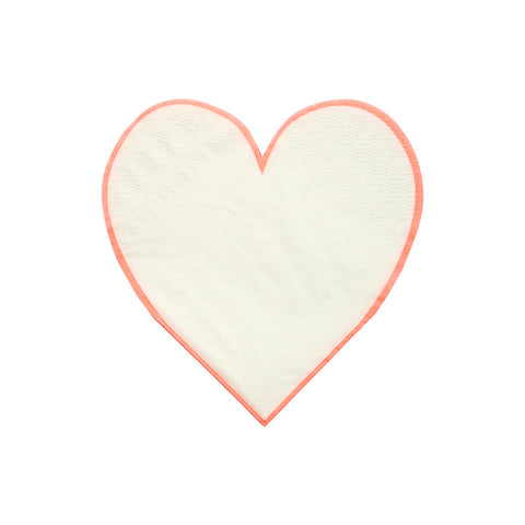 Coral Heart Outline Napkins