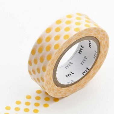 Masking Tape Single Roll - Dot Apricot