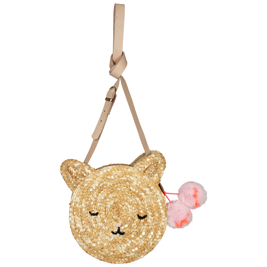 Cat Straw Bag