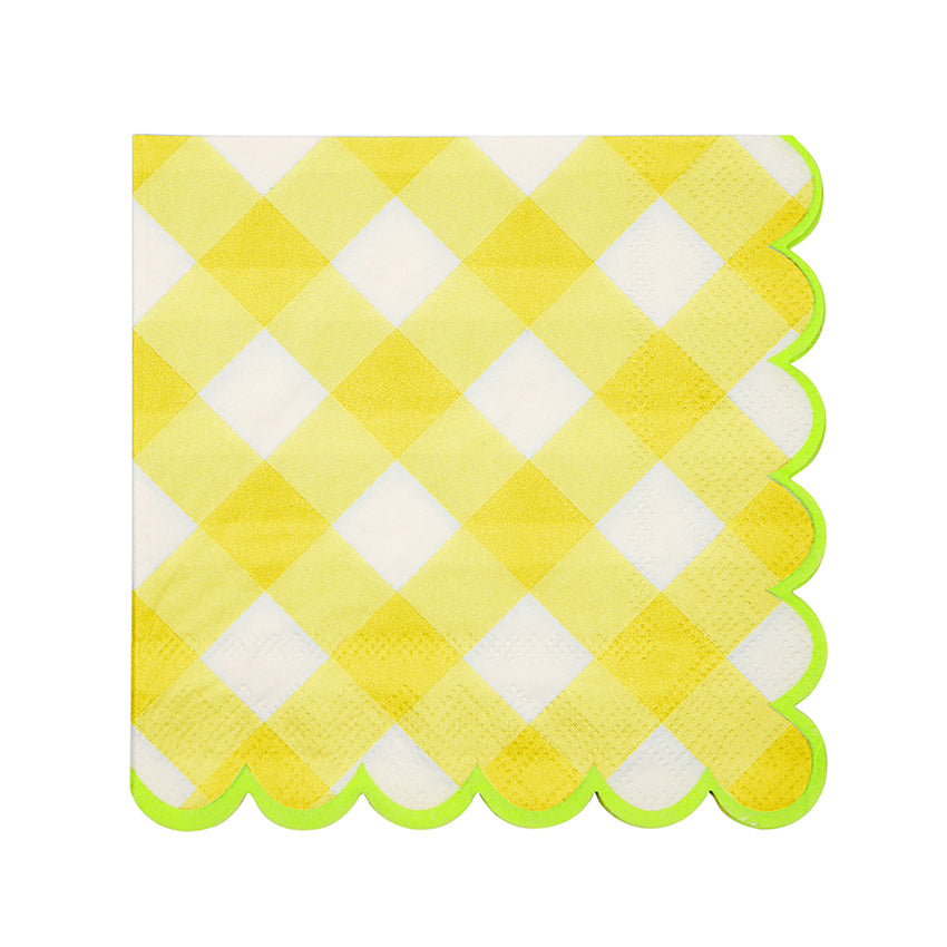 Yellow Gingham Napkins