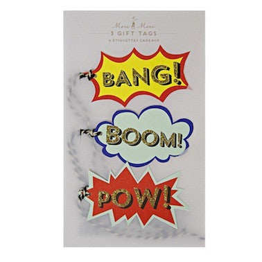 BANG! BOOM! POW! Gift Tags
