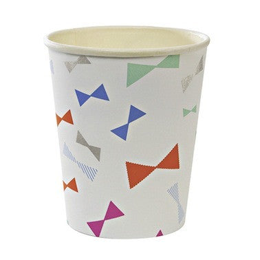 Bow Pattern Paper Cups