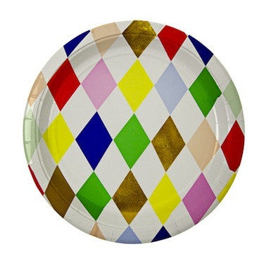 Toot Sweet - Harlequin Paper Plates
