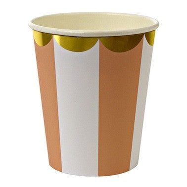 Orange Stripe Paper Cups