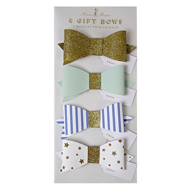 Toot Sweet - Gold & Mint Bows